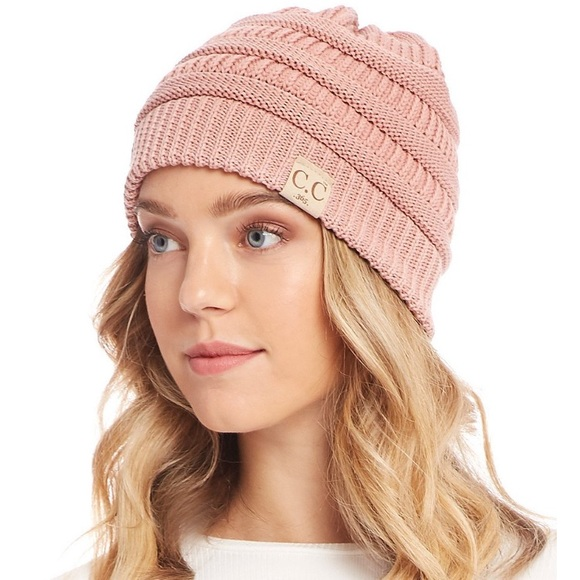 03a2658f7aa06d C.C Accessories   Indie Pink Cc Exclusive Messy Bun Beanie Hat ...